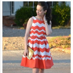 The limited chevron A line dress
